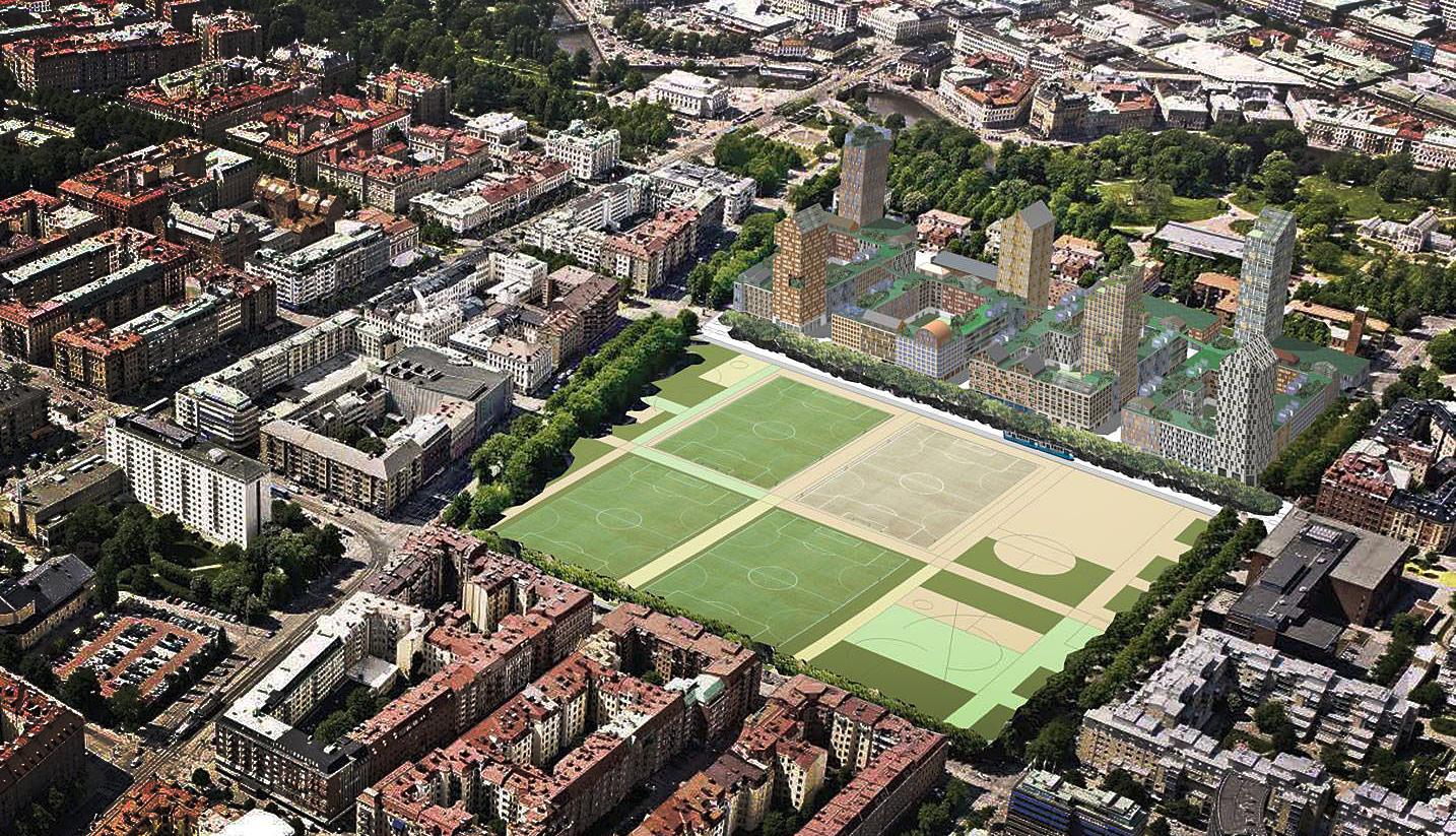 Förslag till Nya Heden från Yimby och Folkstaden