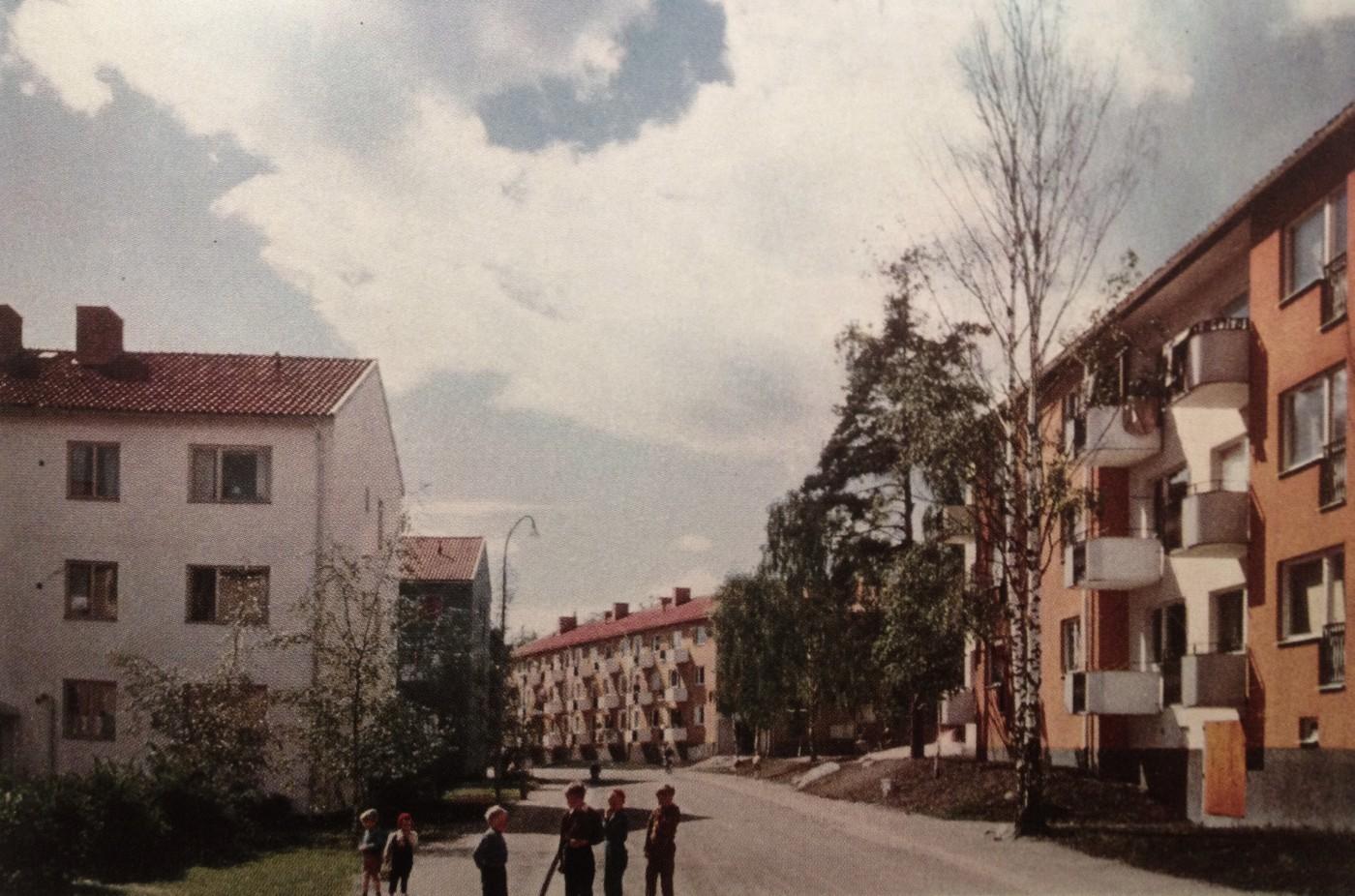 HSB:s kooperativa bostäder i Stockholm på 40-talet